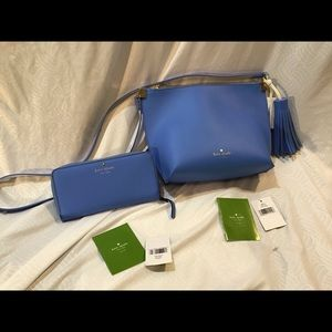 Kate Spade beautiful purse and wallet set, EUC!!